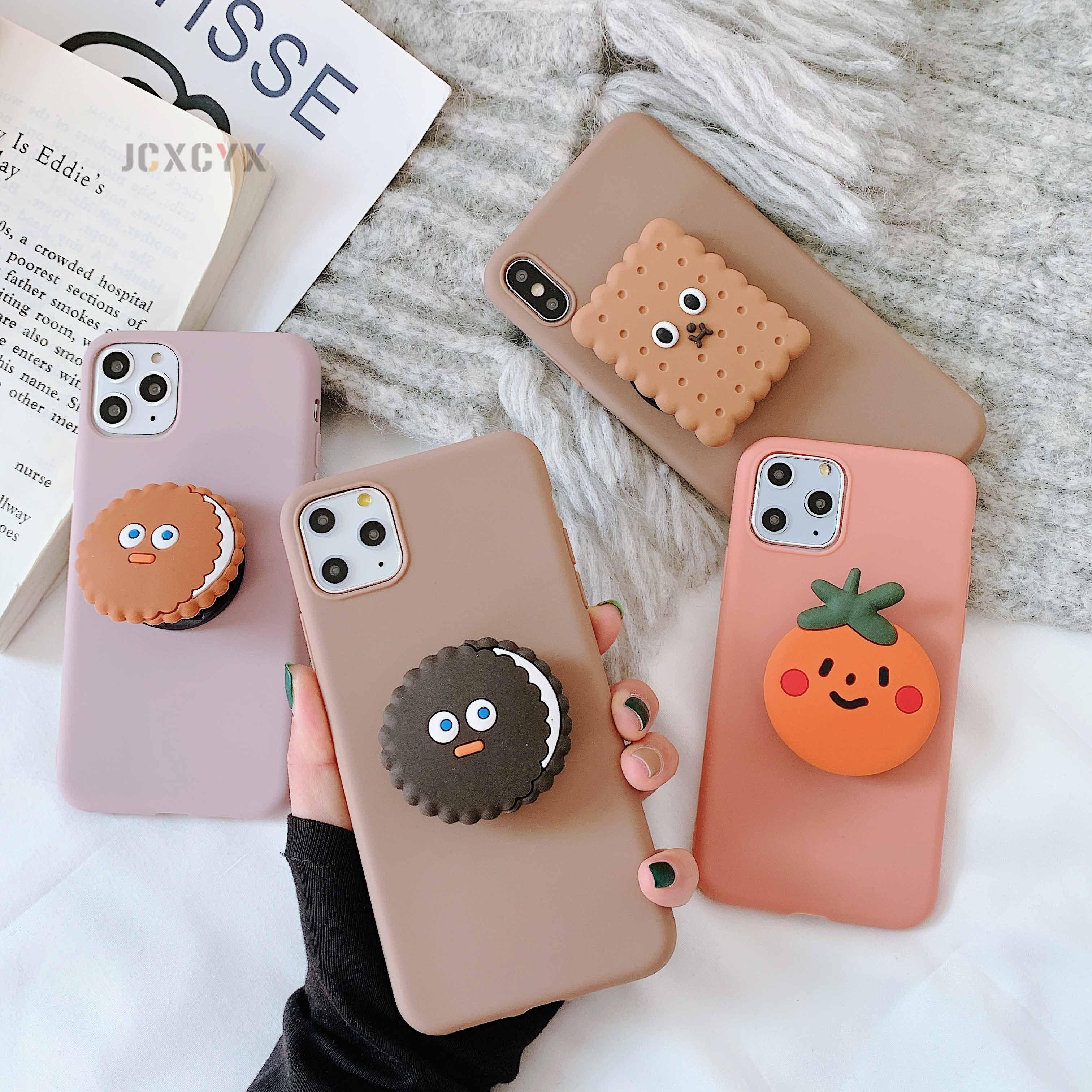 3D Cute Cartoo Oreo Cookies Мягкий телефон случае Для iphonephone X XR XS 11 Pro Max 6S 7 8 плюс держатель чехол для Samsung S8 S9 S10 Примечание