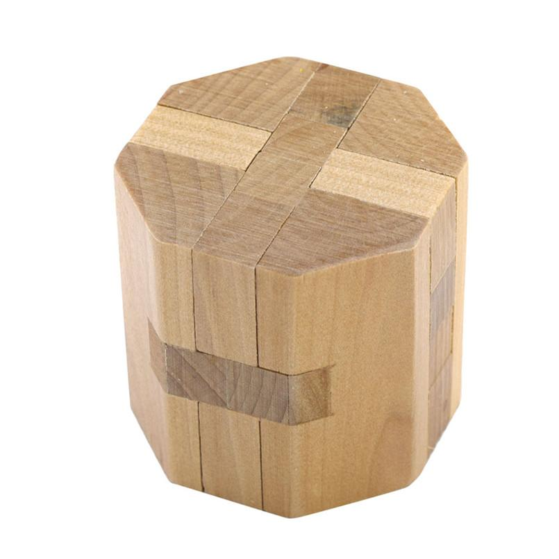 Rompecabezas de madera de Inteligencia juguete chino del enigma del juego en 3D IQ para niños Adultsimprove los niños la capacidad de pensar Cherryb 20