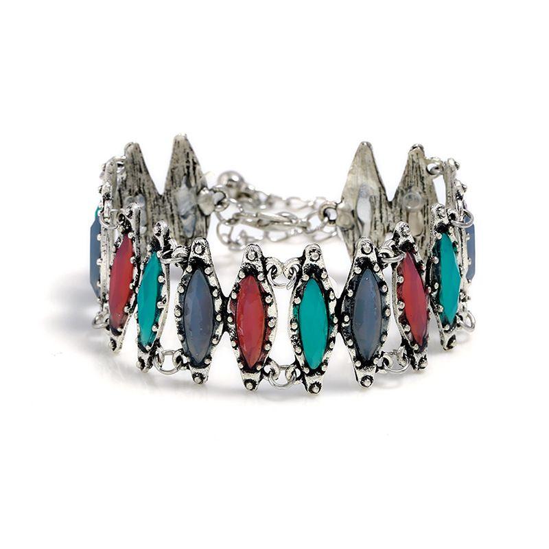 Euro-American Fashion Alloy Jewelry Ethnic Style Hollow Horse Eye Bracelet Overseas