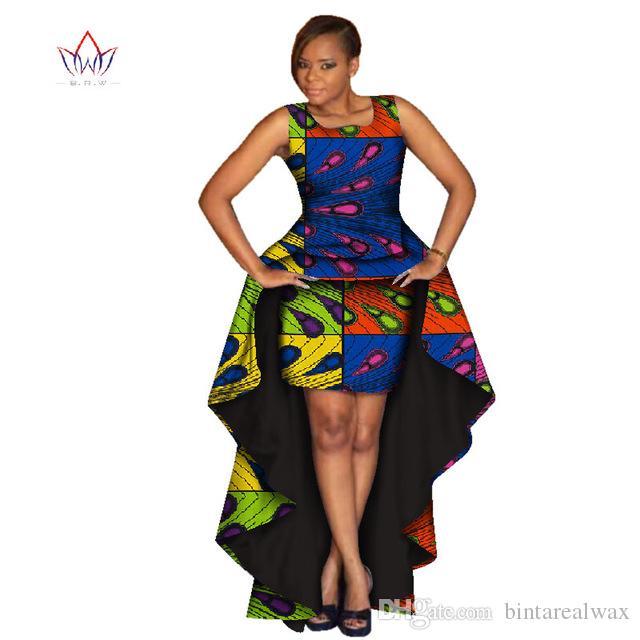 Kadınlar Için 2019 Moda Afrika Etek Setleri Dashiki X-Uzun Gömlek ve Etek Afrika Giyim Bazin Artı Boyutu Kadın Setleri WY1600