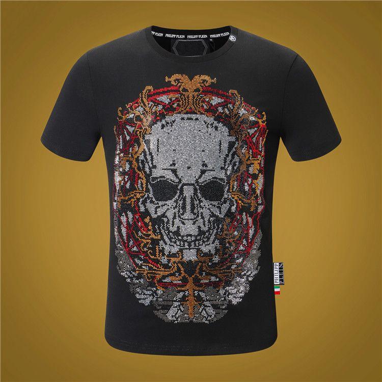 2019 estilo dos homens T-shirt de algodão novo O-pescoço homens de manga curta de luxo T-shirt casual para TOP roupas esportivas masculinas T-shirt dos homens