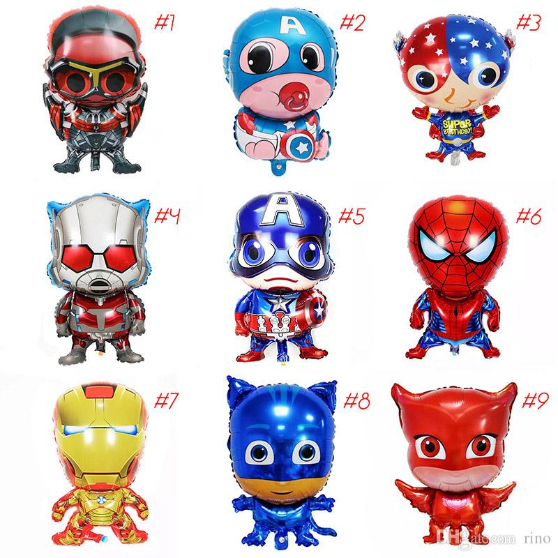 The avenger marvel balloons kids inflatable birthday party ballons decorations supplies 18 inch helium foil balloon toys