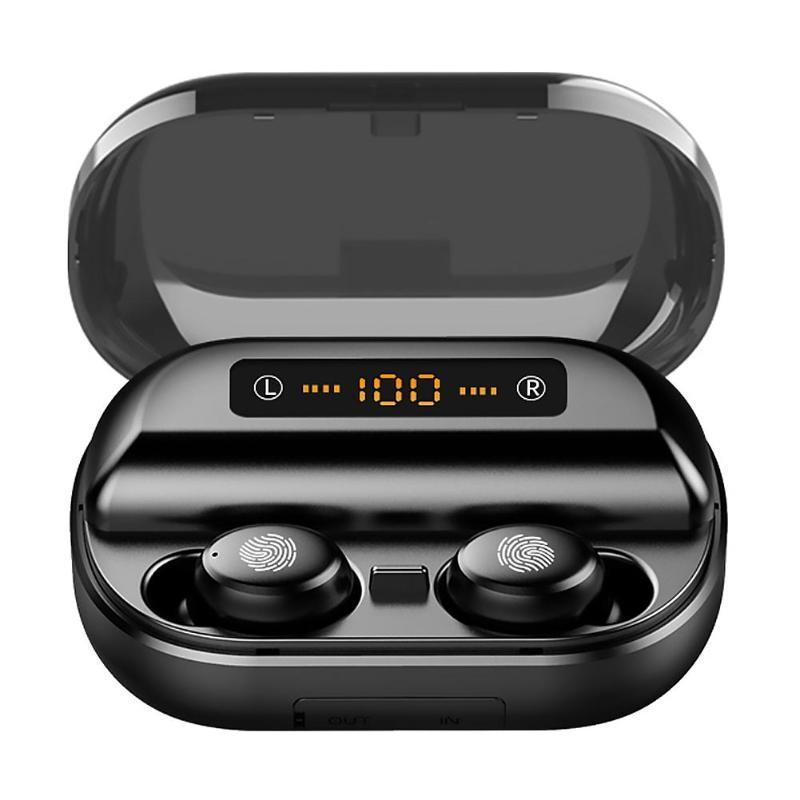 V11 TWS Bluetooth auricolari 5.0 Schermo per cuffie 4000mAh LED senza fili Bluetooth Auricolari Stereo 9D impermeabili con microfono