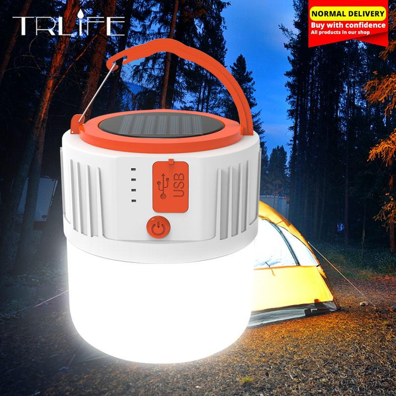 Solar LED Camping Light USB Rechargeable Bulb For Outdoor Tent Lamp Portable Lanterns Emergency Lights 280W 190W home Hunting