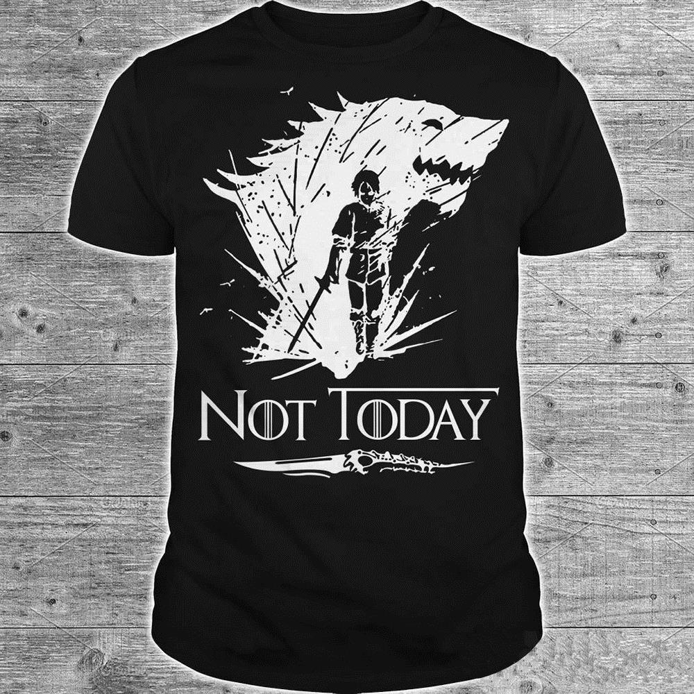Arya Stark Shirt Game Of Thrones Arya Stark Not Today Tshirt Top Tees Men Women Top T-shirts 6 Color