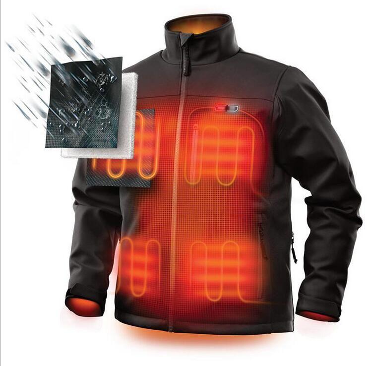 2019 winter warm carbon fiber heating electric men's jacket overalls heating jacket