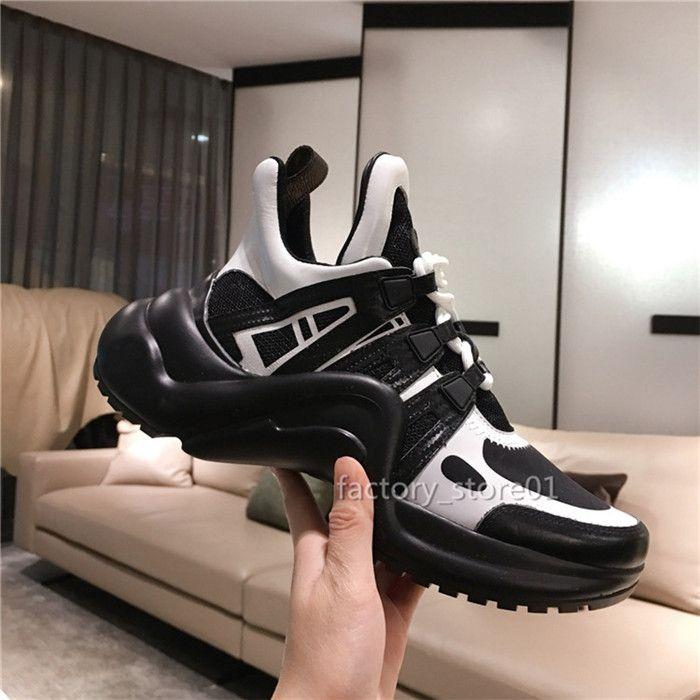 Nero delle donne degli uomini Chaussures Scarpe bello casuale piattaforma Sneakers Arch scarpe di cuoio Colori Dress Scarpe da tennis Stivali