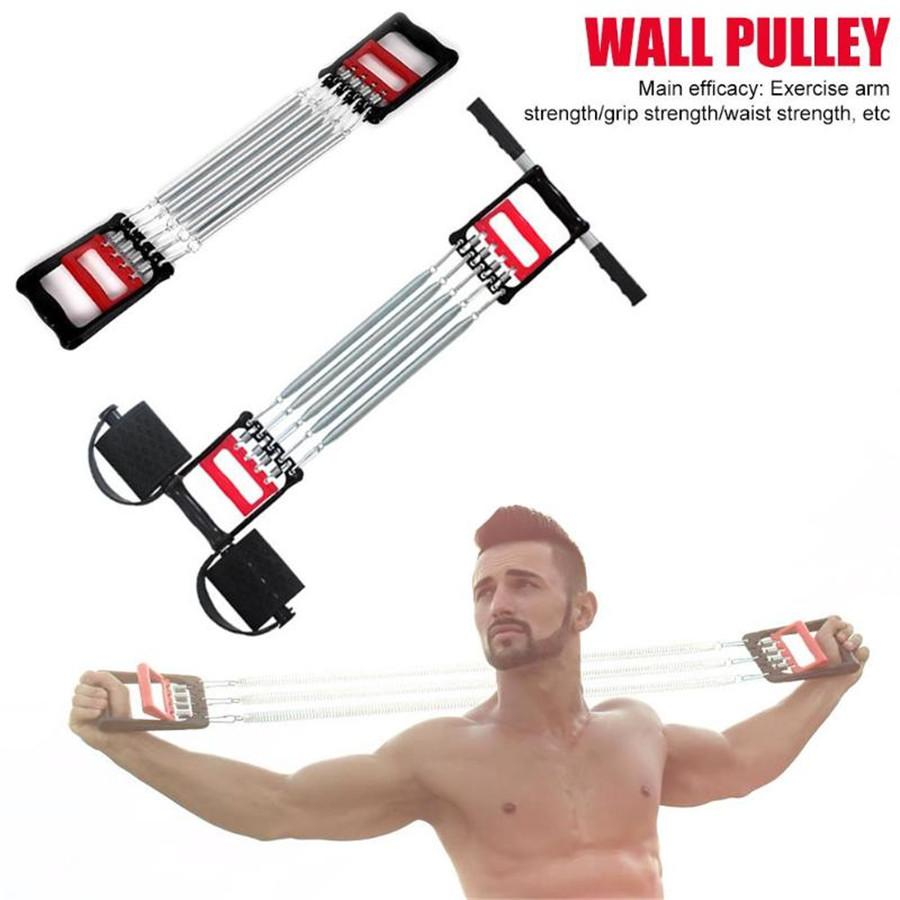 Muti-functional Spring Chest Developer expansor Men Fitness Tension Puller Muscles Exercise Workout Equipment Resistance Bands