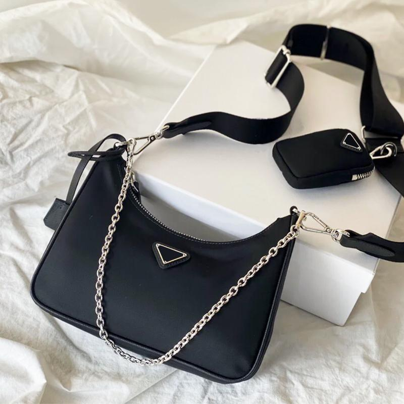 Дизайнер роскошного мешка плеча высокого качества сумка Хобо марочных моды хорошей матч женских сумки из нейлона Переиздание 2005 однопролетное плеча