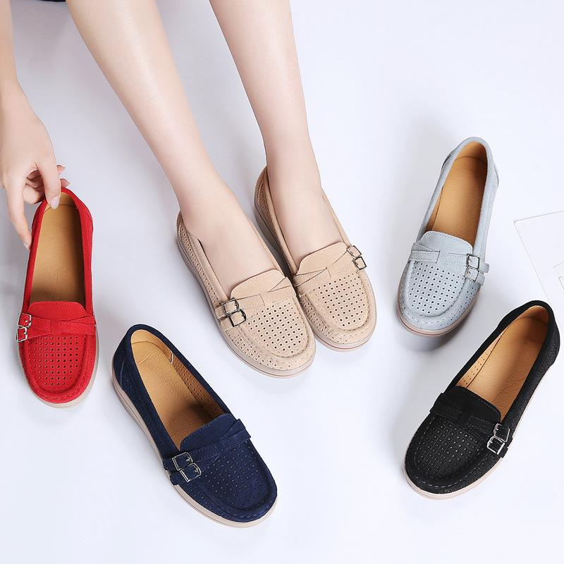 Hollow out Shoes New Style Extra High Women's Summer Breathable Thick Bottomed Shallow Mouth Korean-style Versatile Casual Large