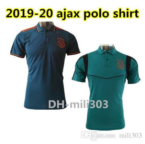 2019 2020 ajax camisas de futebol Camisas Polo 19 20 ajax DE JONG TADIC ZIYECH NERES VAN DE BEEK Polo manga curta esporte camisa de treinamento