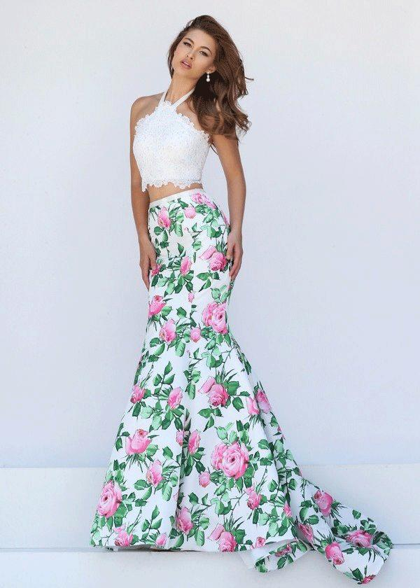 Two Piece Prom Dresses New Design Best Selling Mermaid V-neck Sweep Train Chiffon Beaded Pleats Discount Prom Gowns Formal Evening Dresses
