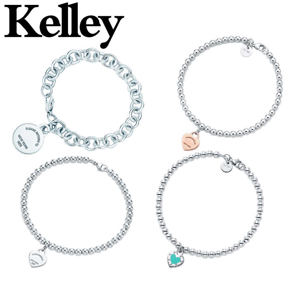 كيلي الأصلي نوعية عالية 925 فضة سوار القلب للمرأة مزاج أزياء مجوهرات أصيلة زوجين هدية