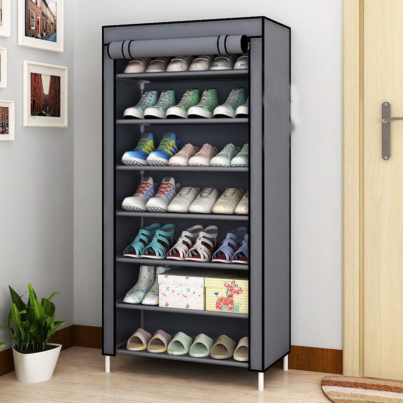 2019 Diy Oxford Cloth Dust Proof Shoes Cabinet Shoes Racks 8 Layers 7 Grids Shoe Organizer Case Shelf Shoes Storage From Ys Shop1 42 76 Dhgate Com