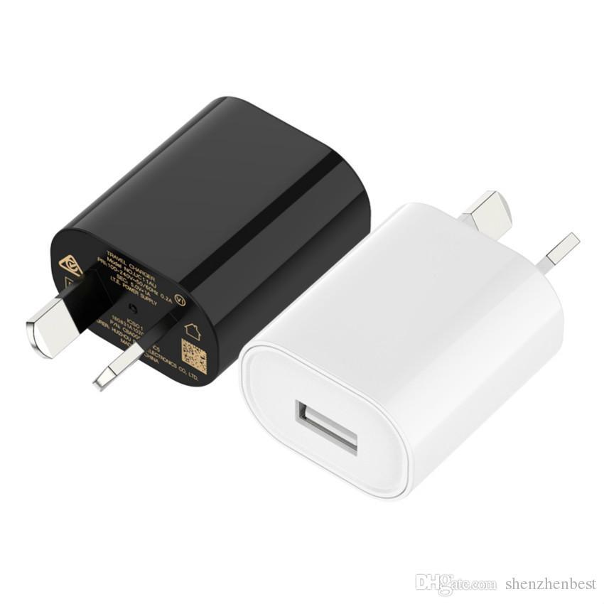 واحد USB محول الطاقة 5V 1A استراليا ونيوزيلندا AU سد الجدار شاحن لسامسونج موبايل 500PCS الهاتف