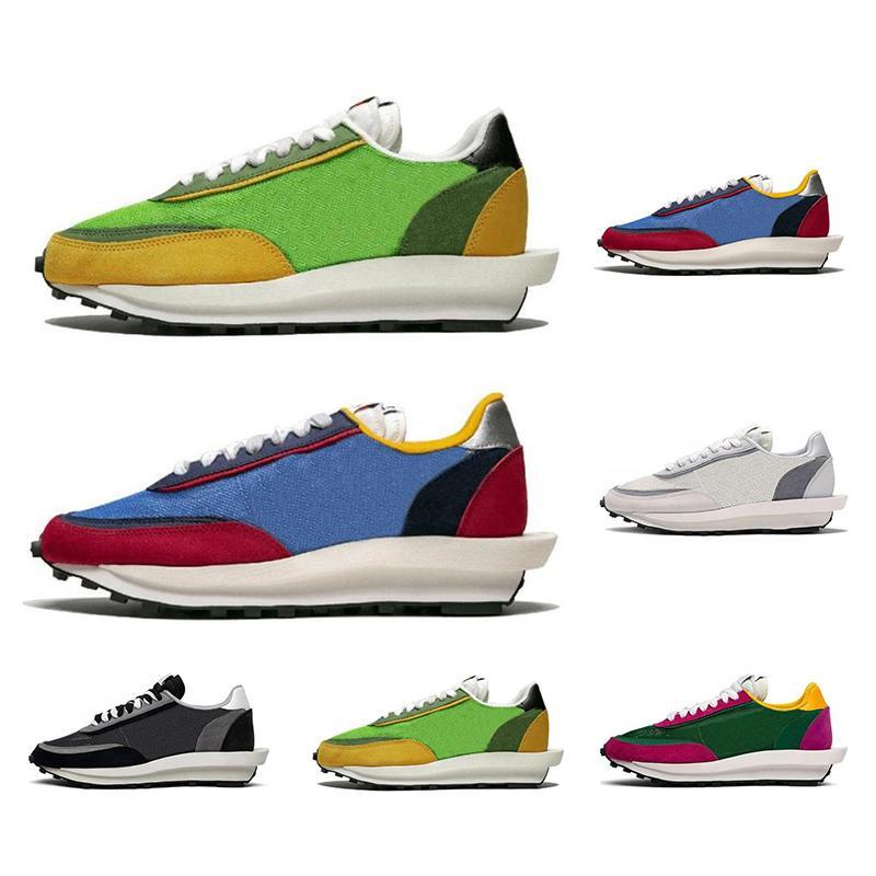 Sacai 2019 Ldv Walf Sports Sneakers Men Women Running Shoes Green Gusto Pine Varsity Blue White Grey Mens Trainers Size 36-45