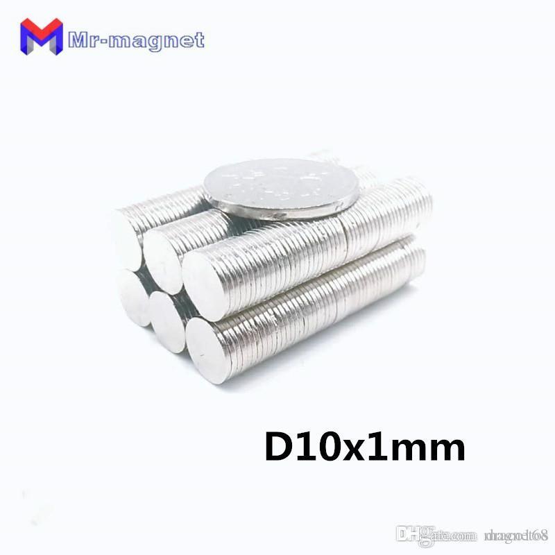 100pcs 10 mm x 1 milímetro ímã Super forte, D10x1mm ímãs 10x1 ímã permanente 10x1mm terras raras 10 * 1 D10 * 1 milímetro 10 * imanes ímã 1mm