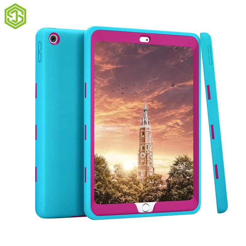 For ipad 10.2 2019 tablet pc accessories hot pink+ light blue armor case free shipping Defender Robot Cover Protective Shell