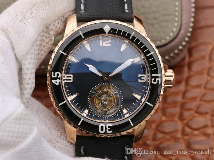 JB montre DE lusso automatico tourbillon a catena movimento orologi cinturino in nylon, con fibbia pieghevole orologi di design designer