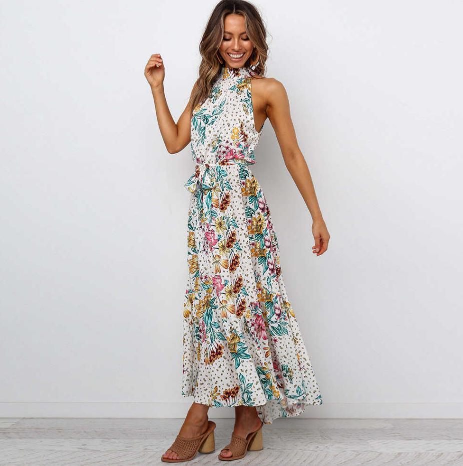 2020 New Womens Dresses Fashion Summer Sleeveless Printed Dresses Hot Sale Women Long Skrits High Quality 4 Colors PH-YF20422a 11