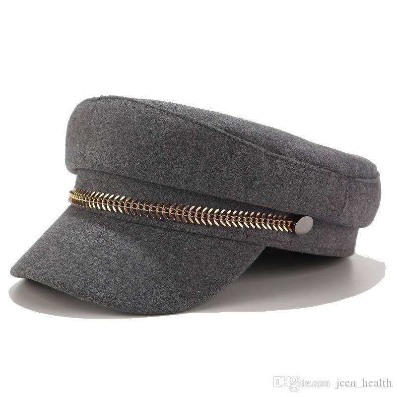 여성 플랫 군사 야구 모자 숙녀 고체 모자 여성 캐주얼 베레모 모자 gorra의 militar에 대한 새로운 가을, 팔각 모자