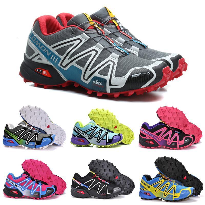 HOT VENTE Salm Speedcross 3 CS Trail Running Chaussures Bleu Speed Cross III Femmes entraîneur des hommes Sports de plein air étanche Chaussures de sport 36-46