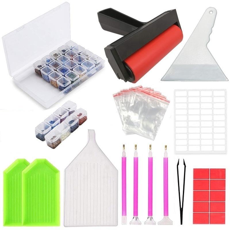 5D diamante Pintura Herramientas y Accesorios Kits de bordado diamante Caja para adultos o niños