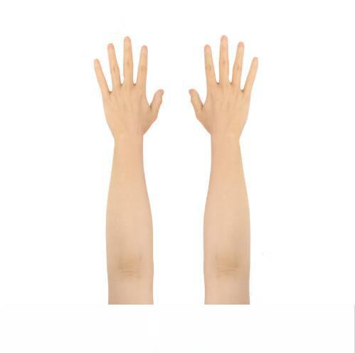 Silikon adam üst düzey gerçekçi silikon eldiven kadın yapay deri Lifelike sahte eller Parti crossdresser Aksesuarlar yapılan