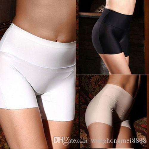 새로운 여성 부드러운면 원활한 안전 높은 허리 짧은 바지 뜨거운 판매 여성 여름 스커트 반바지 통기성 스타킹