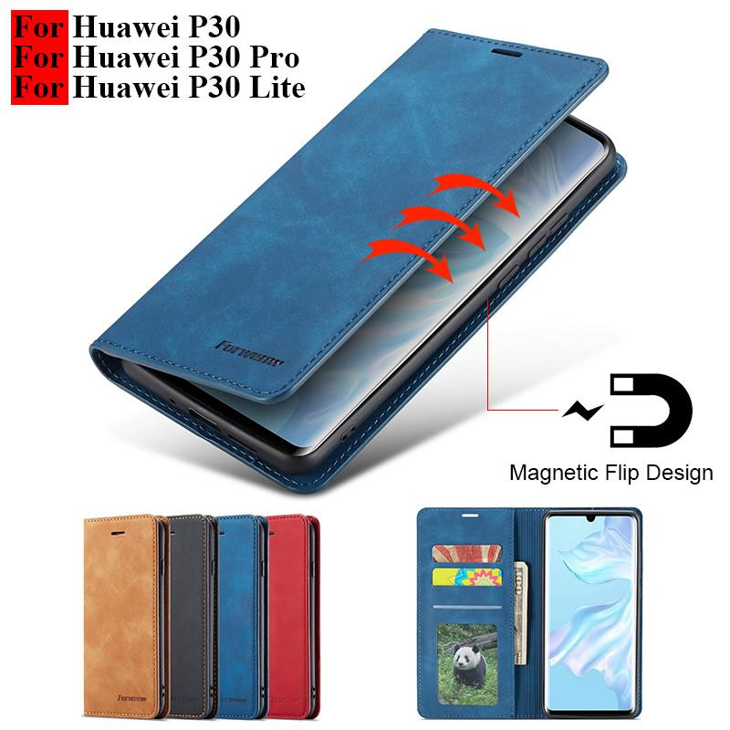 wholesale P30 Pro Case Flip Magnetic Wallet Case For Funda Huawei P30 Lite Cases Leather Vintage Phone Case On Huawei P30 Pro Cover