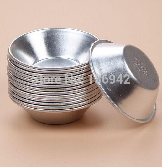 Vente en gros-30 Pièces B05 de haute qualité en aluminium Tart Moule de cuisson Moules Quiche casseroles 7 * 4 * 1.8cm