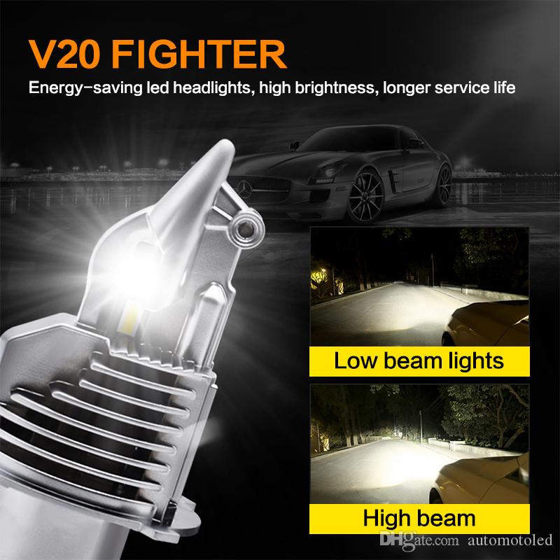 2PCS 자동차 LED 전구 H4 자전거 전조등 55W 12V 24V 6500K 슈퍼 LED가 조명 램프 헤드