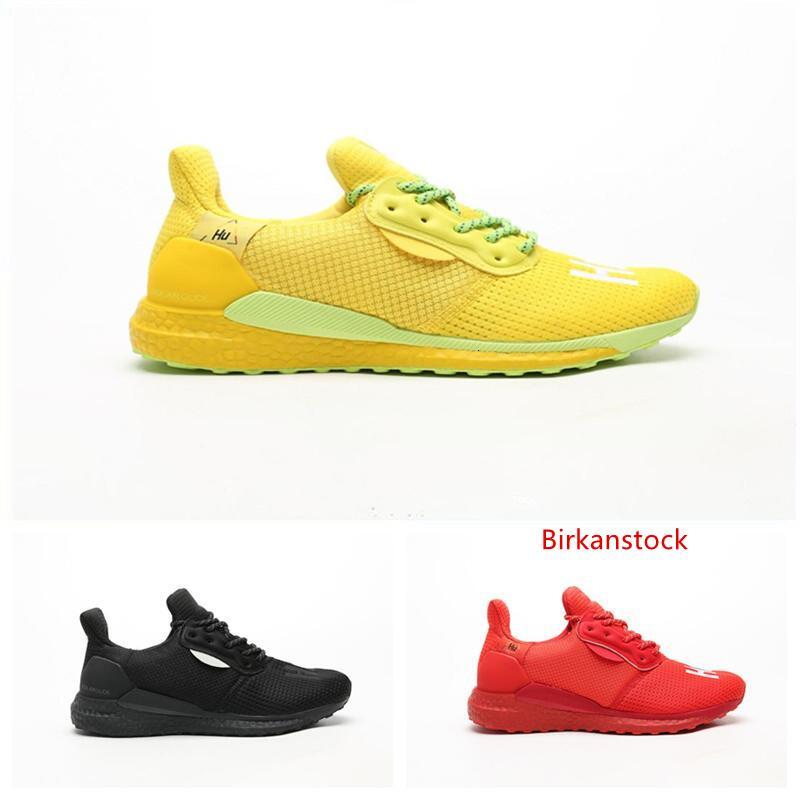 2019 nuovi pattini Pw Hu Holi Solar Triple Black Yellow Red corso di alta qualità Scarpe Moda Uomo Sport Pharrell Williams Sneakers Designer