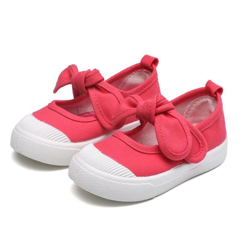candy color Children'S Canvas Shoes Hook&Loop Boy /girls sports shoes Baby Canvas Casual Flat Footwear Children'S soft
