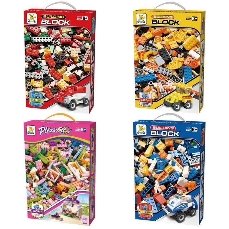 الجملة الاطفال 1000 أجزاء اللبنات الكلاسيكية الإبداعية الطوب ألعاب تعليمية للأطفال هدية ديي مع مربع التجزئة