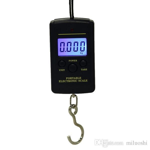 40kg x 10g Mini Digital Scale for Fishing Luggage Travel Weighting Steelyard Hanging Electronic Hook Scale, Kitchen Weight Tool