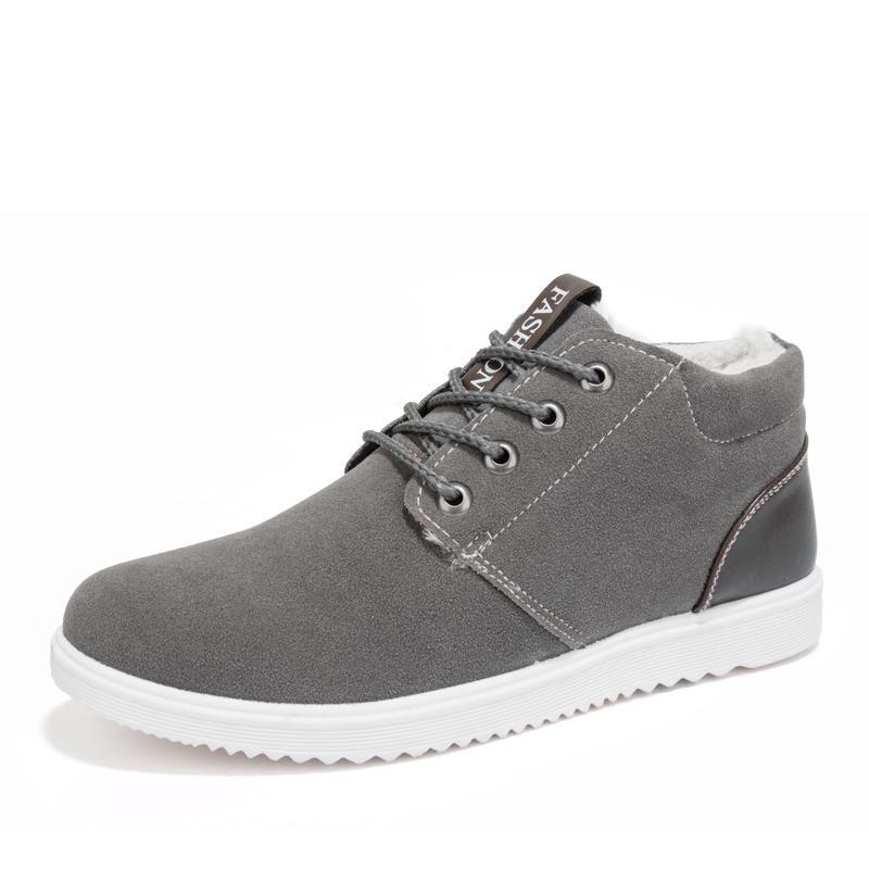 Sapatos de Inverno Student estilo do vintage para homens Fur Dentro da neve sapatos masculinos clássicos neve Botas Hot Selling