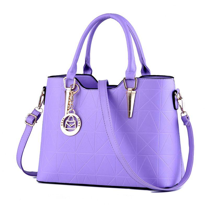 Новый Крокодил шаблон сумки Женщины Кожа PU сумки Tote Сумки для женщин Crossbody плечо сумка фиолетовый