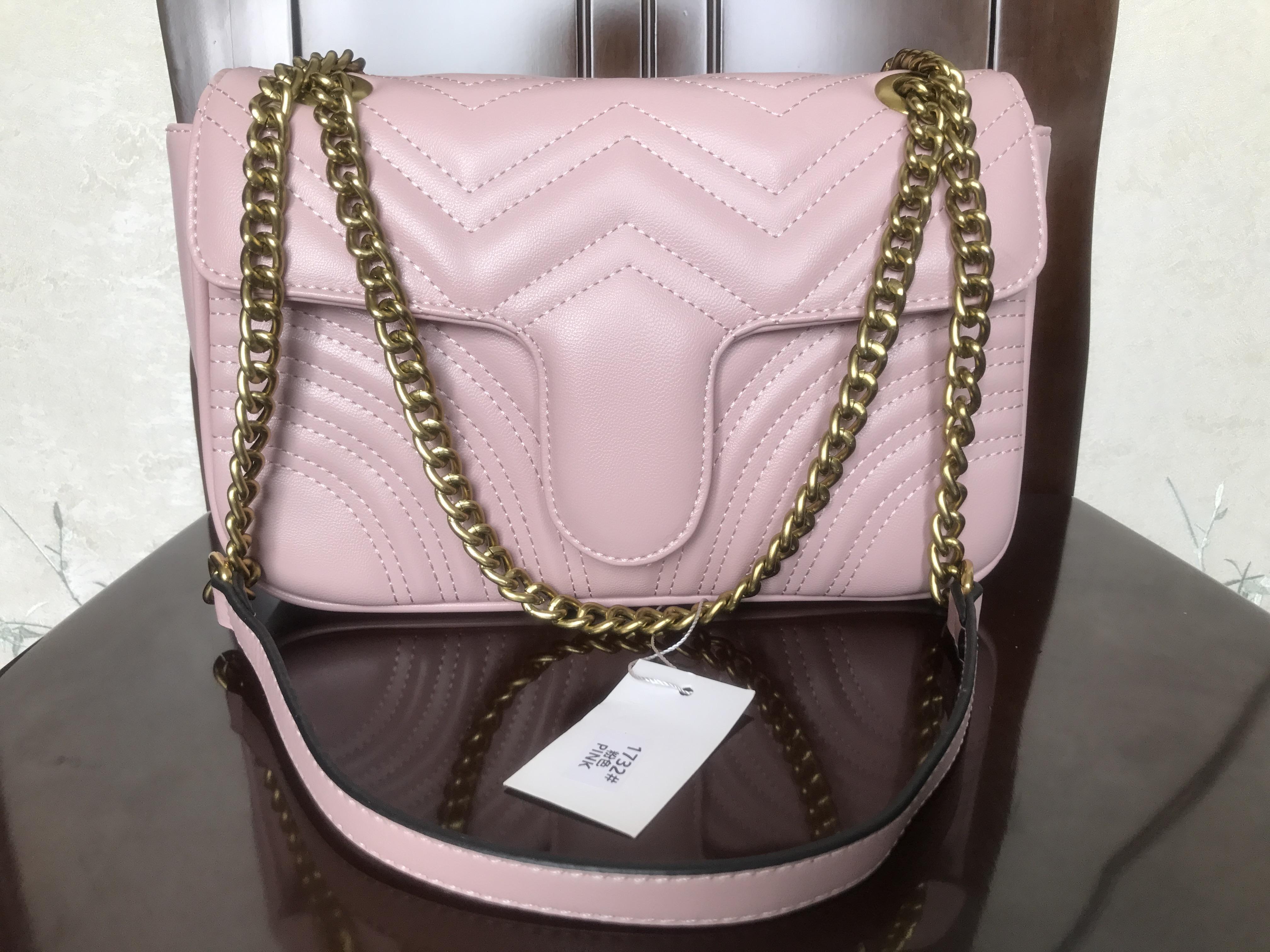 Quality 5colors Famous brand women designer Shoulder bag leather chain bag Cross body Pure color womens handbag crossbody bag purse