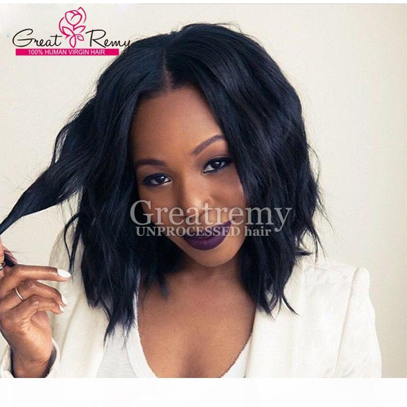 10-14inch Natural Glueless Malaysian Wavy Lace Wigs adjustable Lace Front Wigs Human Virgin Hair New Arrival from Greatremy Factory