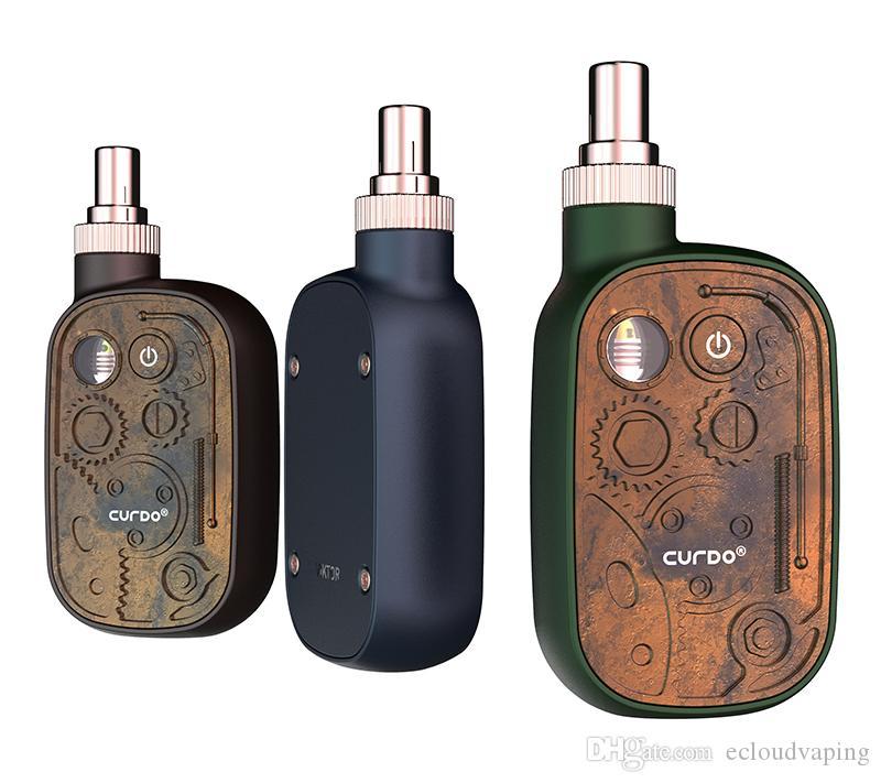 100% Original Curdo Viktor Vaporizer Starter Kit 400mAh Batterievariable Spannung Vape Box Mod für 510 Faden Dicke Ölkassette Original