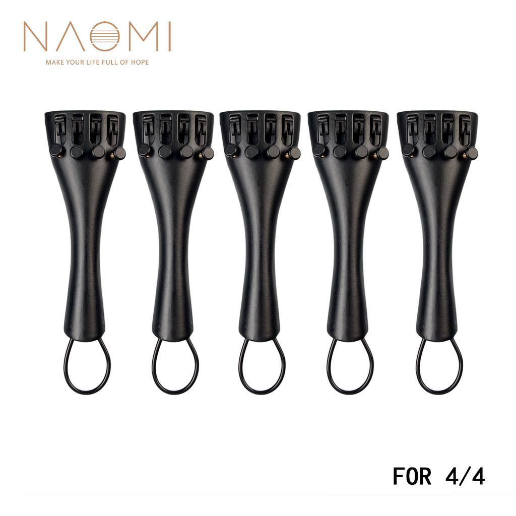 NAOMI 5 ADET Keman Tailpiece Alüminyum Alaşım W / 4 Tuner 4/4 Yüksek Kalite Tailpiece Keman Aracı Aksesuarları Yeni Set