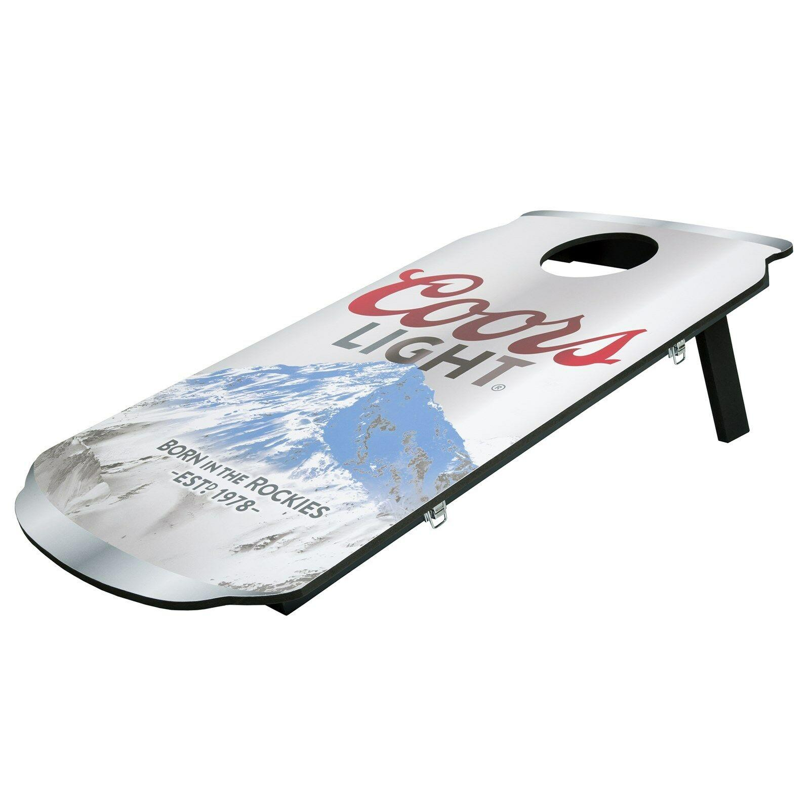 Coors Lite Can Bean Bag Toss Cornhole Corn Hole Game Boards Travel Portable
