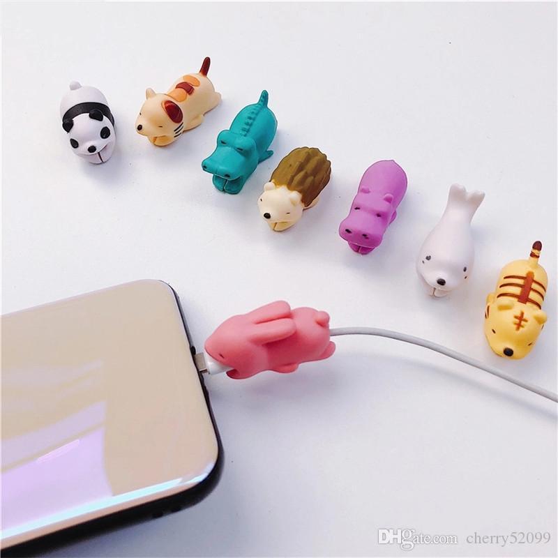 36styles cable Bite mordeduras de animales protector de cable de accesorios para el cable de teléfono inteligente iPhone cable cargador con el paquete al por menor