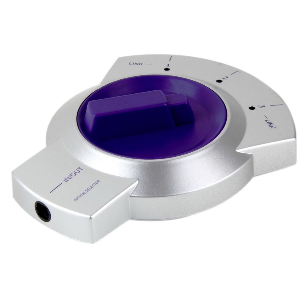 Freeshipping Câble de fibre optique audio numérique Sélecteur 3 voies Toslink Adaptateur de séparateur Dolby HDTV bidirectionnel, lecteur de DVD Blu-ray