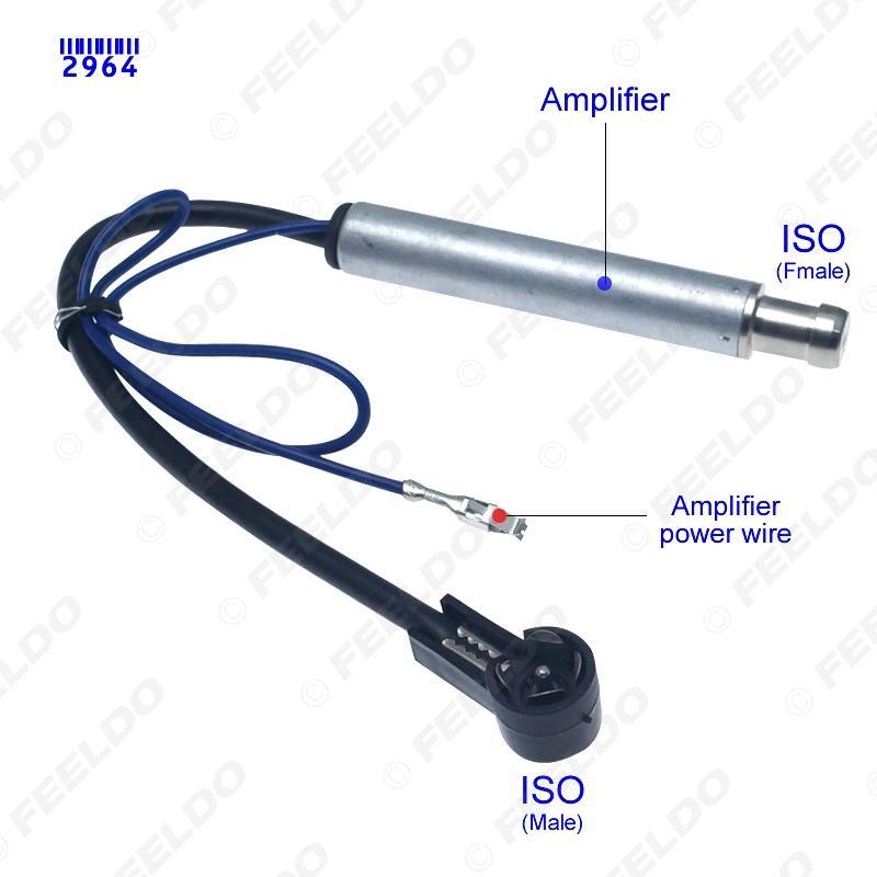 Coche radio estéreo instalación Macho a Hembra Antena Adaptador Cable de extensión