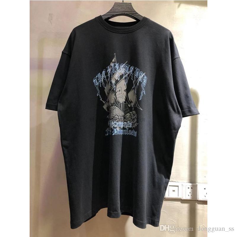 Hombres camiseta de las mujeres camisetas casuales de la Ciudad de impresión Tops Patrón de primavera y verano Tee