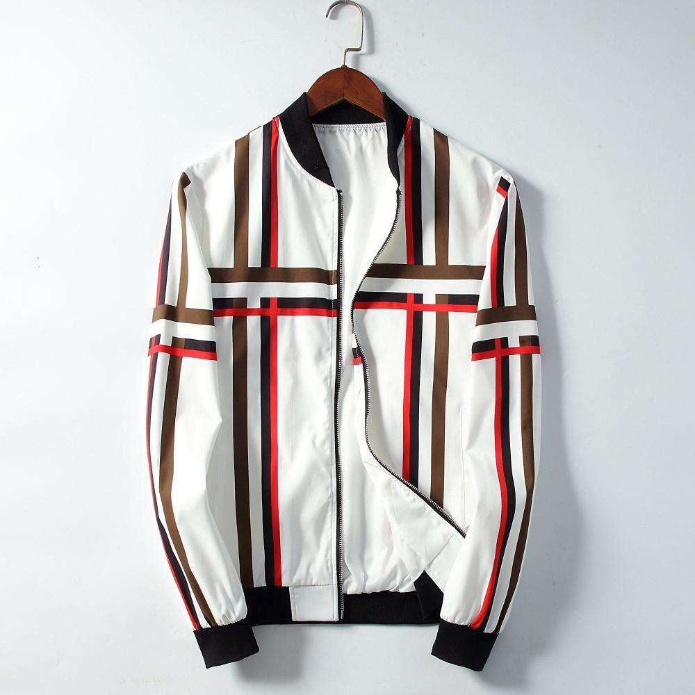 Moda tasarım Erkekler erkekler için ceket Ceket Eğlence Ceketler Uzun kollu 2019 yeni ürünler Asya boyutu M-XXXL Dikey yatay çizgili serin