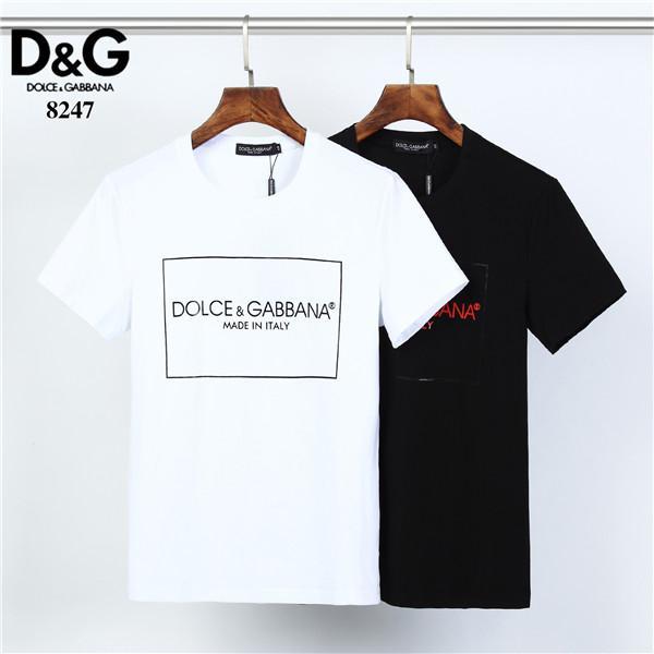 designer d'homme T-shirt T-shirt broderie lettre hommes casual manches courtes