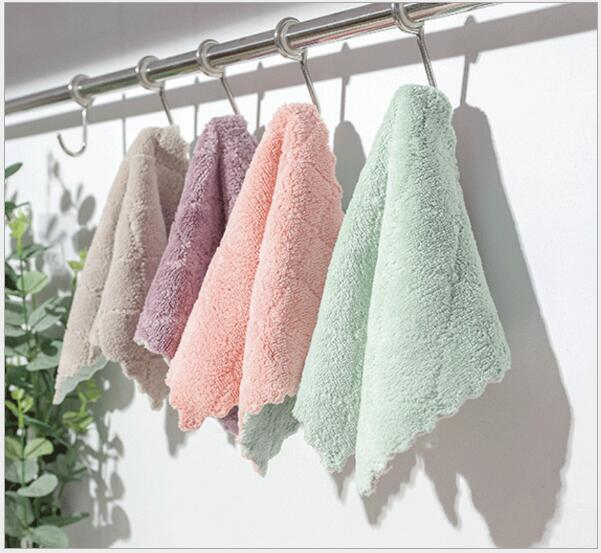 Kitchen Cleaning Wiping Rags Dish Cleaning Cloths Water Absorption Anti-grease Dish Cloth Microfiber Color Washing Towel Magic